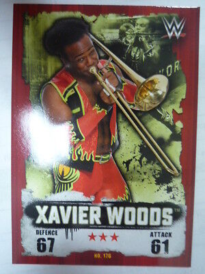 Slam Attax Takeover Wwe Xavier Woods Trading Card Comb P&p