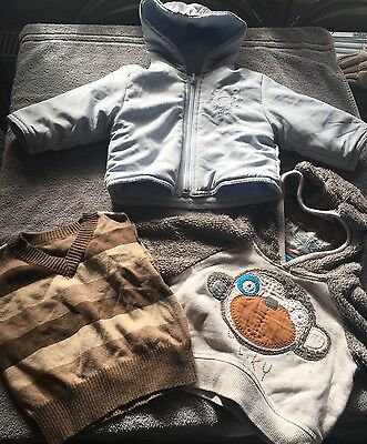 Boys Coat And Jumpers 3-6 Months Next Mothercare