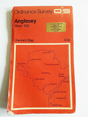Vintage 1962 ordinance Survey Map of ANGLESEY