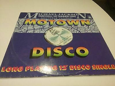 "Michael Jackson 1984 Uk Motown 12"" Disco Single ""farewell My Summer Love"""