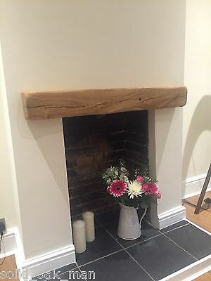 Rustic Oak Beam Floating Shelf Mantle Piece Fireplace Surround - Free fixings!