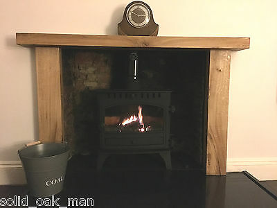"6""/4"" SOLID OAK, Rustic Fireplace Surround, Made to MEASURE!!!"