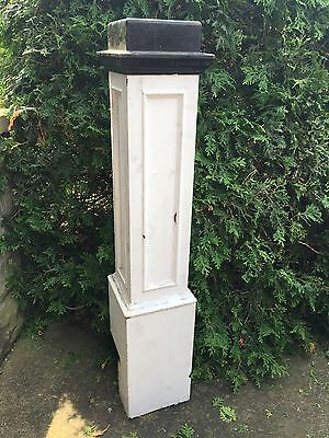 """Antique Carved Turned Wood 0AK NEWEL POST Architectural Salvage 47"""""""