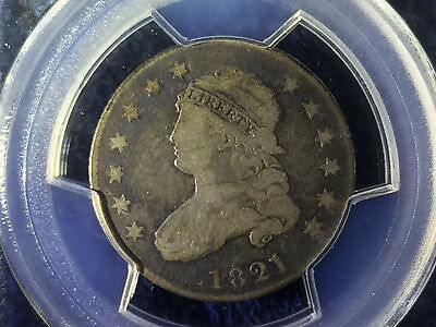 1821 Capped Bust Quarter 25 cent PCGS VG-8
