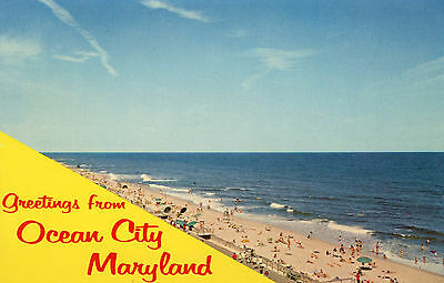 "Vintage ""greetings From Ocean City Maryland"" Postcard 1972 Cancel"