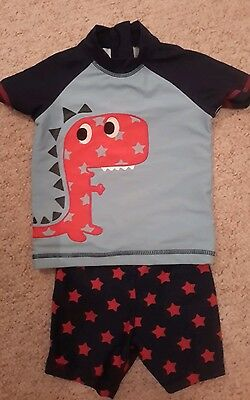 baby Next swimming shorts and rash vest 9-12 months