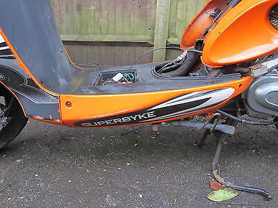 Superbyke Powerband  R50 2009 Chinese Scooter Lower Left Side Floor Board Panel