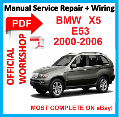 # OFFICIAL WORKSHOP  MANUAL service repair BMW X5 E53 2000 - 2006