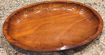 Gerlinol Wooden Bowl Tray Glossy Finish Nuts Serving