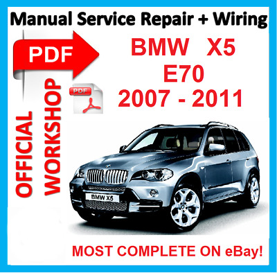# OFFICIAL WORKSHOP  MANUAL service repair BMW X5 E70  2007 2008 2009 2010 2011