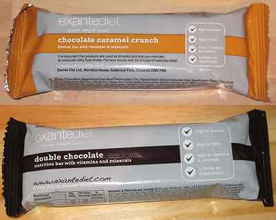 20x Exante Diet VLCD Bars - Double Chocolate and Chocolate Caramel Crunch - MRP