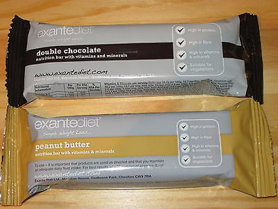 20x Exante Diet VLCD Bars - Double Chocolate and Peanut Butter - MRP