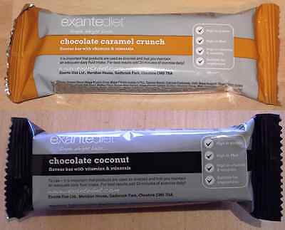 20x Exante Diet VLCD Bars - Chocolate Coconut and Chocolate Caramel Crunch - MRP