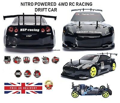 RC Car 4WD Nitro Gas Power Remote Control Car 1:10 Scale Road Drift Racing NEW