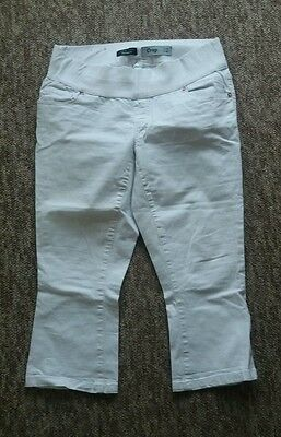 New look maternity cropped jeans size 12