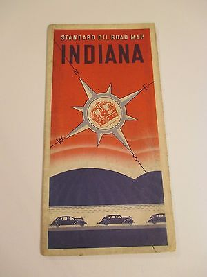 Vintage 1936 STANDARD OIL INDIANA Gas Service Station Road Map
