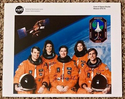 Space Shuttle STS-70 Crew Signed 8x10 NASA Lithograph (3 of 5)