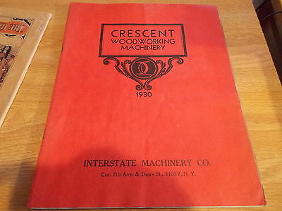 Original ANTIQUE 1930 CATALOG CRESENT WOODWORKING MACHINERY BANDSAWS TABLE SAWS
