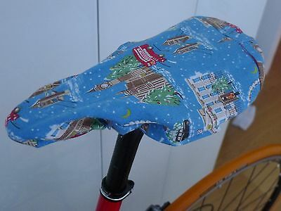 Cath Kidston Snowy London Bike Cycle Bicycle Seat / Saddle Cover