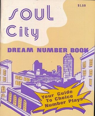 SOUL CITY DREAM NUMBER BOOK 1977 African-American Dream Book Numbers NEAR MINT