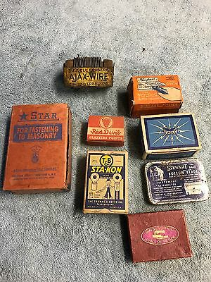 8 Vintage Hardware Items All In Boxes