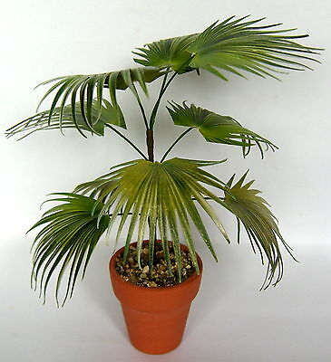 CHINESE FAN PALM  2 handmade dolls house miniature plant  12th scale living room