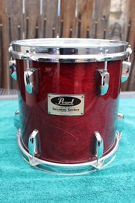"Pearl Session Series 10x10"" Tom Drum Wine Red Lacquer Finish"