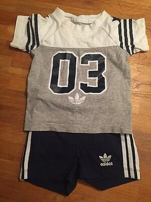 Baby Boys Adidas Short And T-shirt Set Age 6/9 Month