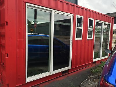 Container House Glass Showroom 20FT Home Mobile Office Guest Room Storage Lodge