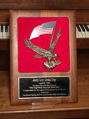 Jerry Lee Lewis Owned Award - Sun Artist Memphis Tennessee