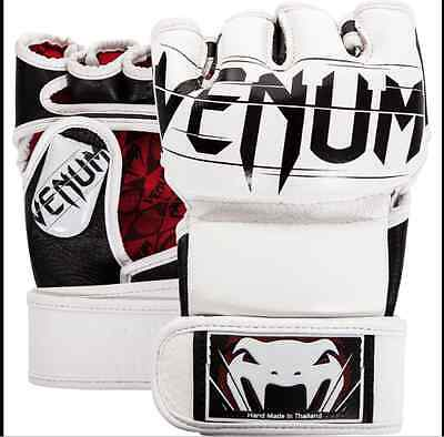 Venum Undisputed 2.0 Leather MMA Gloves - LARGE - White