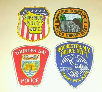 Lot of 4 US/CA Police Patches WI CT ON NY 01/17 - 005