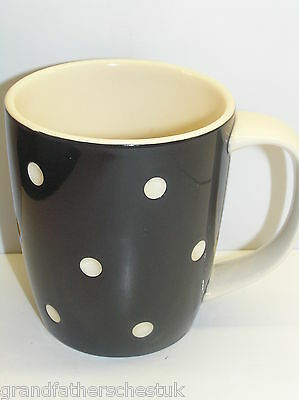 T G GREEN CORNISH BLACK  DOMINO CORNISHWARE 12oz MUG MADE IN ENGLAND