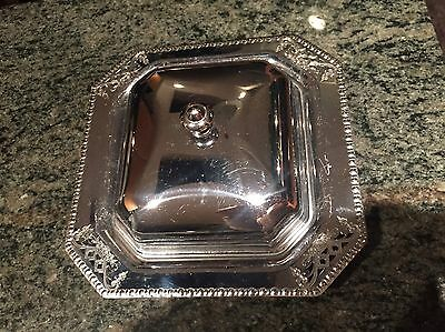 Silver Serving Dish With Top,  Pate Size  7""