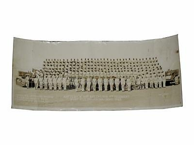 African American World War II Combat Unit Panoramic Photograph Black Soldiers