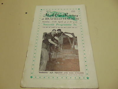Rare #2 1956 Brafield Stadium Northampton Early Stock Car Racing Programme