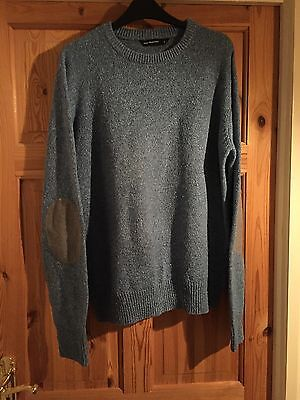 CEDARWOOD STATE Mens Blue Fleck Knit Jumper Size L