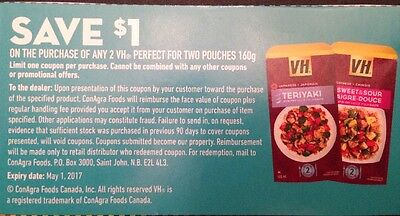 Lot of 10 x 1.00$  Buy ANY 2 VH POUCHES 160g Canada Coupons