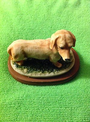 Country Artists Miniature Duction On a cushion And Wooden