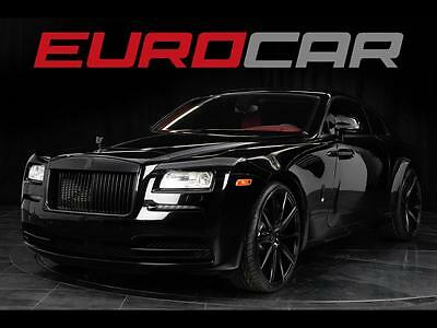 """2015 Rolls-Royce Other Base Coupe 2-Door 2015 Rolls-Royce Wraith, NEW 24"""" WHEELS, ALL BLACK'D OUT, RED INTERIOR!!!"""