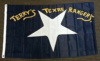 TERRY'S TEXAS RANGERS FLAG 3' X 5' LARGE OUTDOOR INDOOR BANNER made in USA