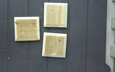 """95mm approx Square Wood Fence Post Caps for 3"""" posts"""