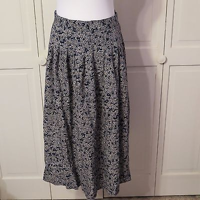 Women's Pleated Skirt Black and White Floral - Norton McNaughton - Size 12 -I