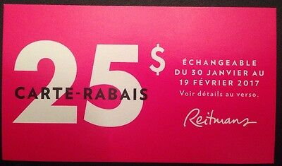 Lot Of 25.00$ Reitmans Stores Canada Coupons