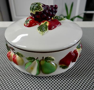 Arc Hand Painted Collection  Design Serving  Dish  W/lid