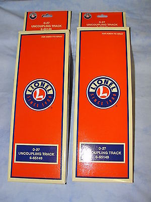 Lionel O-27 uncoupling track, set of 2