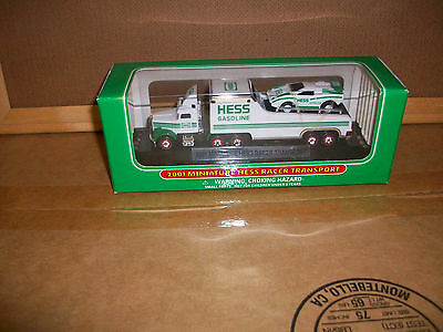 2001 Hess Gas Miniature Racer Transport(New In Box)