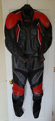 Frank Thomas Armasport 2 Piece Motorcycle Motorbike Leathers Black Red