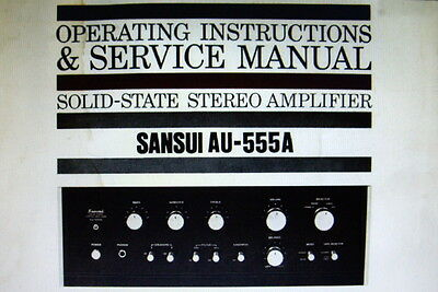 Sansui Au-555A Ss St Amp Operating Instructions And Service Manual Bound English