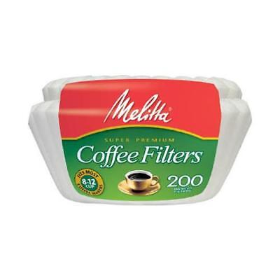 Melitta 629524 200-Count 8 - 12-Cup White Basket Coffee Filters - Quantity 1